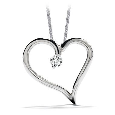 Hearts on Fire 0.12 ctw. Amorous Heart Pendant Necklace in 18K White Gold