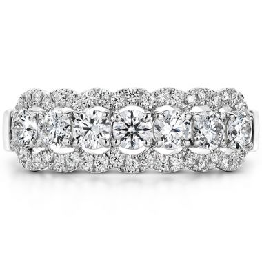 Hearts on Fire 0.94 ctw. Aurora Seven Diamond Band in 18K White Gold