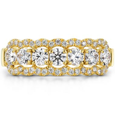 Hearts on Fire 0.94 ctw. Aurora Seven Diamond Band in 18K Yellow Gold