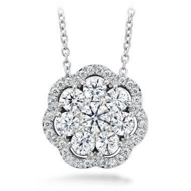 Hearts on Fire 1.45 ctw. Aurora Cluster Pendant in 18K White Gold