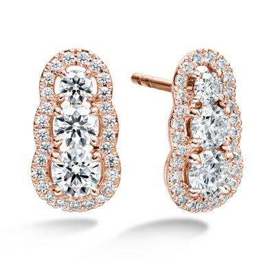Hearts on Fire 1.27 ctw. Aurora  Earrings in 18K Rose Gold
