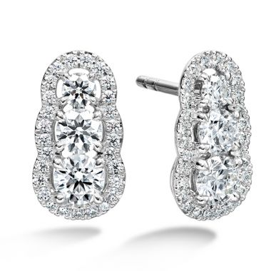 Hearts on Fire 1.27 ctw. Aurora  Earrings in 18K White Gold
