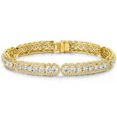 Hearts on Fire 8.8 ctw. Aurora Line Bracelet in 18K Yellow Gold