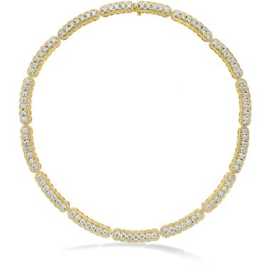 Hearts on Fire 20.21 ctw. Aurora Line Necklace in 18K Yellow Gold