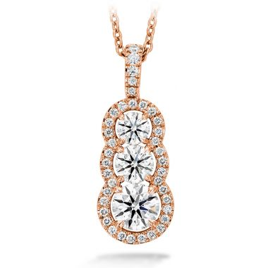 Hearts on Fire 1.07 ctw. Aurora Pendant - Large in 18K Rose Gold