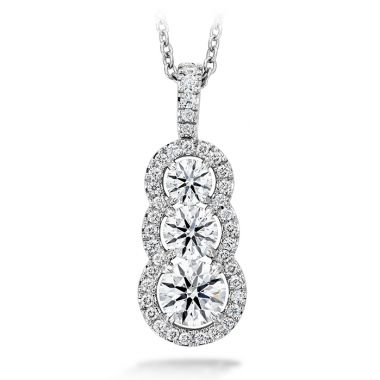 Hearts on Fire 1.07 ctw. Aurora Pendant - Large in 18K White Gold