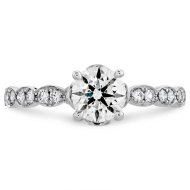 Hearts on Fire Platinum Lorelei Straight Engagement Ring