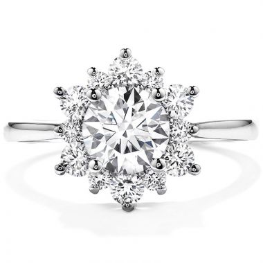 Hearts on Fire Platinum Halo Engagement Ring