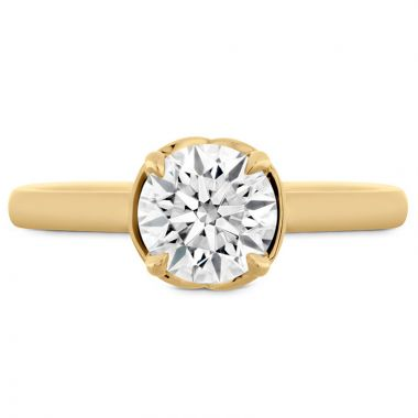 Hearts on Fire 18k Yellow Gold Solitaire Engagement Ring