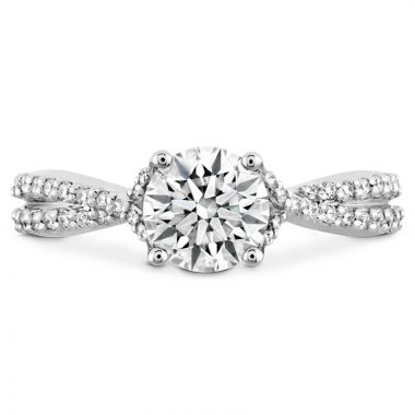 Hearts on Fire Platinum Twisted Engagement Ring