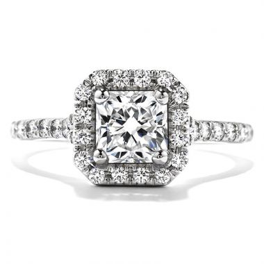 Hearts on Fire Platinum Transcend Halo Engagement Ring