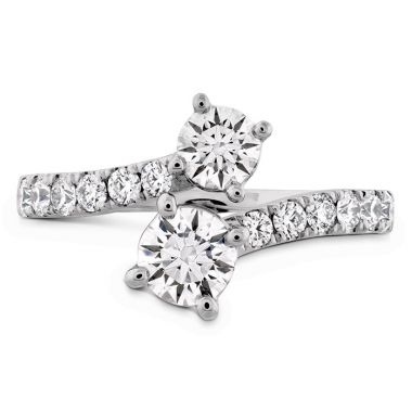 Hearts on Fire 1.2 ctw. HOF Two Diamond Ring - Diamond Band in 18K White Gold