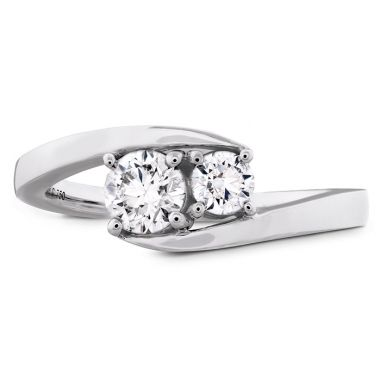 Hearts on Fire 0.54 ctw. HOF Two Diamond Ring in Platinum