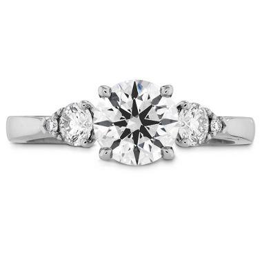 Hearts on Fire 0.25 ctw. HOF Signature Three Stone Engagement Ring in Platinum