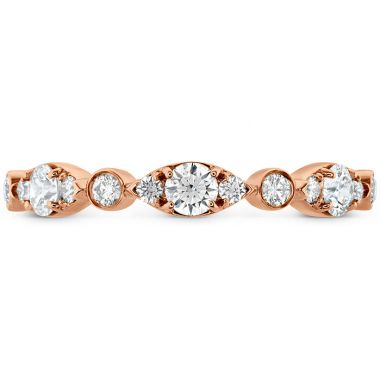 Hearts on Fire 0.45 ctw. HOF Bezel Regal Band in 18K Rose Gold