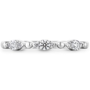 Hearts on Fire 0.16 ctw. HOF Beaded Regal Band in 18K White Gold