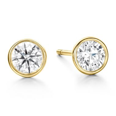 Hearts on Fire 0.51 ctw. HOF Classic Bezel Studs in 18K Yellow Gold
