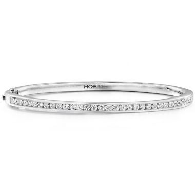 Hearts on Fire 1.2 ctw. HOF Classic Channel Set Bangle - 210 in 18K White Gold