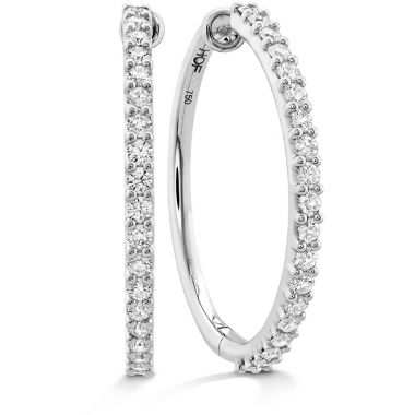 Hearts on Fire 1.2 ctw. HOF Classic Diamond Hoop - Large in 18K White Gold
