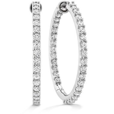 Hearts on Fire 1.95 ctw. HOF Classic Dia Hoop Inside-Out - Large in 18K Yellow Gold