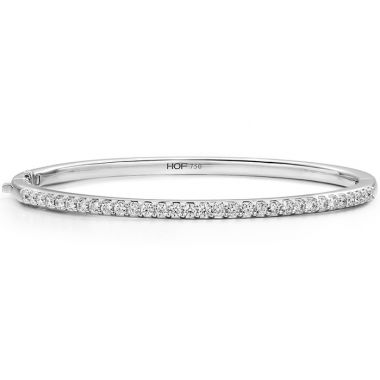 Hearts on Fire 1.1 ctw. HOF Classic Prong Set Bangle - 210 in 18K White Gold
