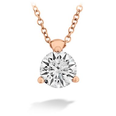 Hearts on Fire 0.5 ctw. HOF Classic 3 Prong Solitaire Pendant in 18K Rose Gold