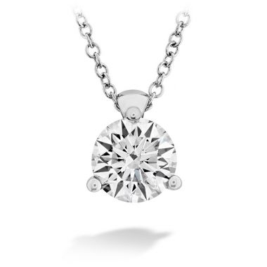 Hearts on Fire 0.5 ctw. HOF Classic 3 Prong Solitaire Pendant in 18K White Gold