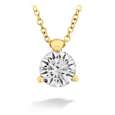 Hearts on Fire 0.25 ctw. HOF Classic 3 Prong Solitaire Pendant in 18K Yellow Gold