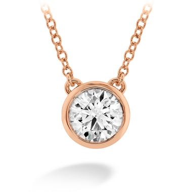 Hearts on Fire 0.1 ctw. HOF Classic Bezel Solitaire Pendant in 18K Rose Gold