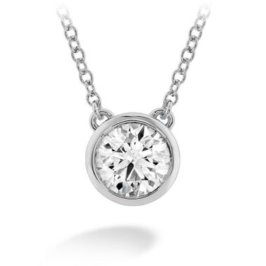 Hearts on Fire 0.25 ctw. HOF Classic Bezel Solitaire Pendant in 18K White Gold