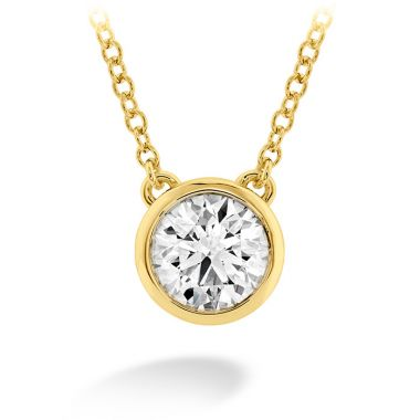 Hearts on Fire 0.1 ctw. HOF Classic Bezel Solitaire Pendant in 18K Yellow Gold