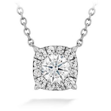 Hearts on Fire 0.82 ctw. HOF Custom Halo Diamond Pendant in 18K Yellow Gold
