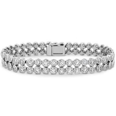 Hearts on Fire 10.9 ctw. HOF Double Bezel Diamond Bracelet in 18K White Gold