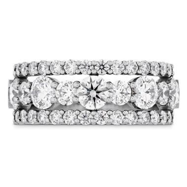 Hearts on Fire 2.25 ctw. HOF Enticing Three Row Ring in Platinum