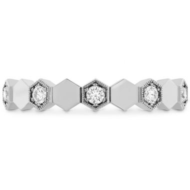 Hearts on Fire 0.3 ctw. HOF Hex Eternity Band in 18K White Gold