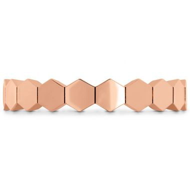 Hearts on Fire HOF Hex Metal Eternity Band in 18K Rose Gold