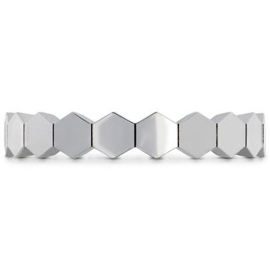 Hearts on Fire HOF Hex Metal Eternity Band in 18K White Gold