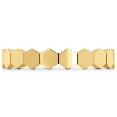 Hearts on Fire HOF Hex Metal Eternity Band in 18K Yellow Gold