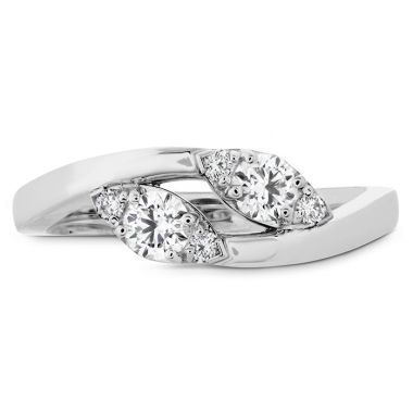 Hearts on Fire 0.4 ctw. HOF Regal Two Diamond Ring in 18K White Gold