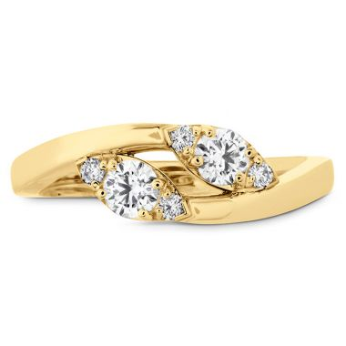 Hearts on Fire 0.4 ctw. HOF Regal Two Diamond Ring in 18K Yellow Gold