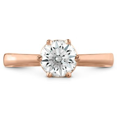 Hearts on Fire HOF Signature 6 Prong Solitaire Engagement Ring in 18K Rose Gold