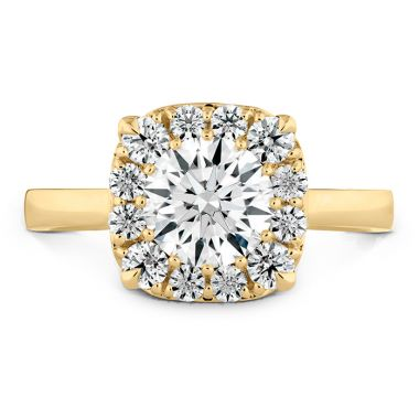 Hearts on Fire 0.1 ctw. HOF Signature Custom Halo Engagement Ring in 18K Yellow Gold