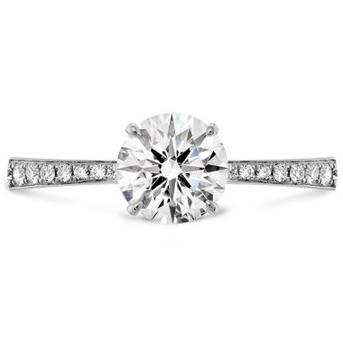 Hearts on Fire 0.1 ctw. HOF Signature Engagement Ring-Diamond Band in 18K White Gold
