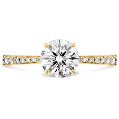 Hearts on Fire 0.1 ctw. HOF Signature Engagement Ring-Diamond Band in 18K Yellow Gold