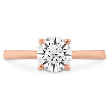 Hearts on Fire HOF Signature Solitaire Engagement Ring in 18K Rose Gold