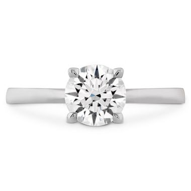 Hearts on Fire HOF Signature Solitaire Engagement Ring in 18K White Gold