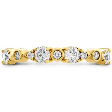 Hearts on Fire 0.6 ctw. HOF Teardrop Bezel Diamond Band in 18K Yellow Gold