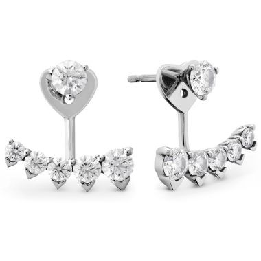 Hearts on Fire 0.9 ctw. HOF Trend Pointed Earring Jackets in 18K White Gold