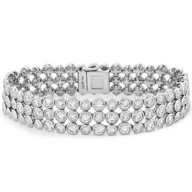 Hearts on Fire 16.4 ctw. HOF Triple Bezel Diamond Bracelet in 18K White Gold