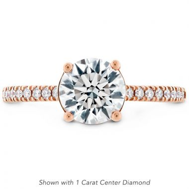 Hearts on Fire 18k Rose Gold Sloane Engagement Ring